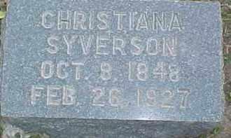 SYVERSON, CHRISTIANA - Dixon County, Nebraska   CHRISTIANA SYVERSON - Nebraska Gravestone Photos