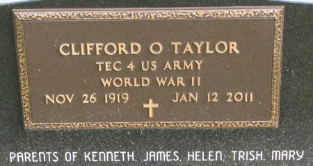 TAYLOR, CLIFFORD ORVAL (MILITARY) - Dixon County, Nebraska | CLIFFORD ORVAL (MILITARY) TAYLOR - Nebraska Gravestone Photos