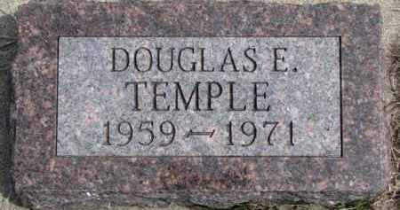 TEMPLE, DOUGLAS E. - Dixon County, Nebraska | DOUGLAS E. TEMPLE - Nebraska Gravestone Photos