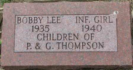 THOMPSON, INFANT GIRL - Dixon County, Nebraska | INFANT GIRL THOMPSON - Nebraska Gravestone Photos