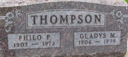 THOMPSON, GLADYS M. - Dixon County, Nebraska | GLADYS M. THOMPSON - Nebraska Gravestone Photos
