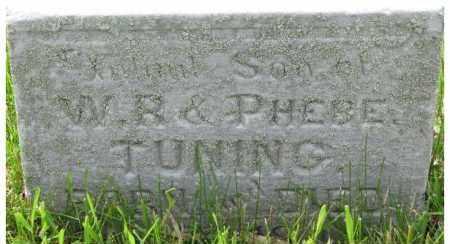 TUNING, INFANT SON - Dixon County, Nebraska | INFANT SON TUNING - Nebraska Gravestone Photos
