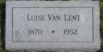 VAN LENT, LUISE - Dixon County, Nebraska | LUISE VAN LENT - Nebraska Gravestone Photos
