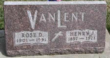 VAN LENT, ROSE D. - Dixon County, Nebraska | ROSE D. VAN LENT - Nebraska Gravestone Photos