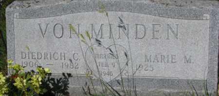 VON MINDEN, DIEDRICH C. - Dixon County, Nebraska   DIEDRICH C. VON MINDEN - Nebraska Gravestone Photos