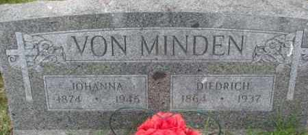 VON MINDEN, JOHANNA - Dixon County, Nebraska | JOHANNA VON MINDEN - Nebraska Gravestone Photos