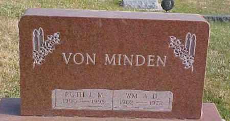 VON MINDEN, WM. A.D. - Dixon County, Nebraska | WM. A.D. VON MINDEN - Nebraska Gravestone Photos