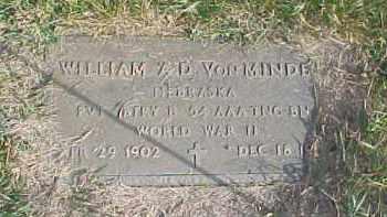 VONMINDEN, WILLIAM A.D. - Dixon County, Nebraska | WILLIAM A.D. VONMINDEN - Nebraska Gravestone Photos