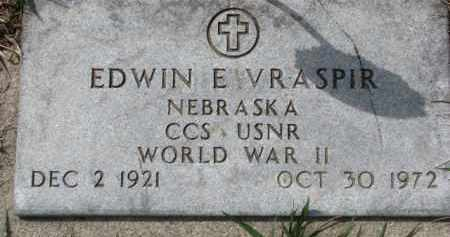 VRASPIR, EDWIN E. (WW II MARKER) - Dixon County, Nebraska | EDWIN E. (WW II MARKER) VRASPIR - Nebraska Gravestone Photos