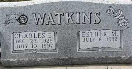 WATKINS, ESTHER M. - Dixon County, Nebraska | ESTHER M. WATKINS - Nebraska Gravestone Photos