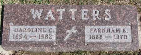 WATTERS, FARNHAM E. - Dixon County, Nebraska | FARNHAM E. WATTERS - Nebraska Gravestone Photos
