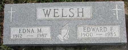 WELSH, EDNA M. - Dixon County, Nebraska | EDNA M. WELSH - Nebraska Gravestone Photos