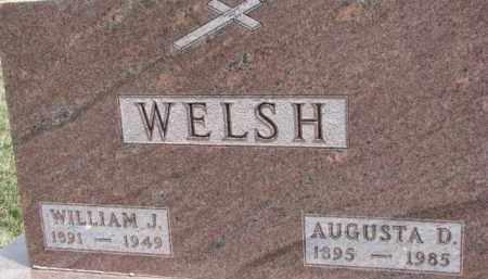 WELSH, AUGUSTA D. - Dixon County, Nebraska   AUGUSTA D. WELSH - Nebraska Gravestone Photos
