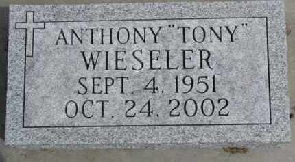 "WIESELER, ANTHONY ""TONY"" - Dixon County, Nebraska | ANTHONY ""TONY"" WIESELER - Nebraska Gravestone Photos"