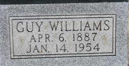 WILLIAMS, GUY - Dixon County, Nebraska | GUY WILLIAMS - Nebraska Gravestone Photos