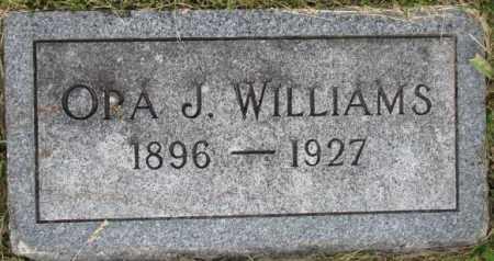 WILLIAMS, ORA J. - Dixon County, Nebraska | ORA J. WILLIAMS - Nebraska Gravestone Photos