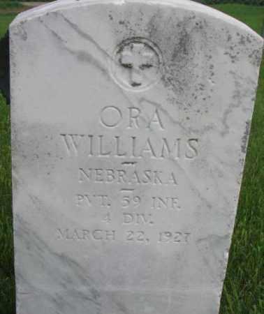 WILLIAMS, ORA (MILITARY MARKER) - Dixon County, Nebraska | ORA (MILITARY MARKER) WILLIAMS - Nebraska Gravestone Photos