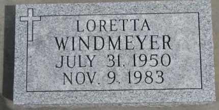 WINDMEYER, LORETTA - Dixon County, Nebraska | LORETTA WINDMEYER - Nebraska Gravestone Photos