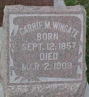 WINGATE, CARRIE - Dixon County, Nebraska | CARRIE WINGATE - Nebraska Gravestone Photos