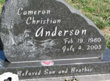 ANDERSON, CAMERON CHRISTIAN - Dodge County, Nebraska | CAMERON CHRISTIAN ANDERSON - Nebraska Gravestone Photos