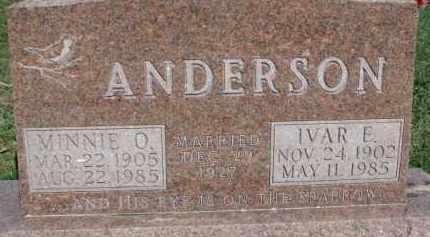 ANDERSON, MINNIE O. - Dodge County, Nebraska   MINNIE O. ANDERSON - Nebraska Gravestone Photos