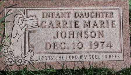 JOHNSON, CARRIE MARIE - Dodge County, Nebraska | CARRIE MARIE JOHNSON - Nebraska Gravestone Photos