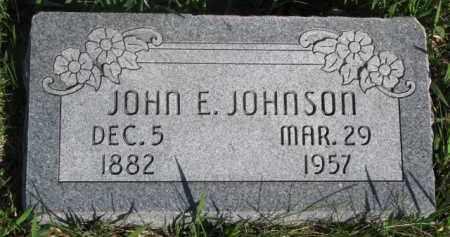 JOHNSON, JOHN E. - Dodge County, Nebraska   JOHN E. JOHNSON - Nebraska Gravestone Photos