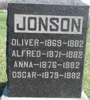 JONSON, ALFRED - Dodge County, Nebraska | ALFRED JONSON - Nebraska Gravestone Photos