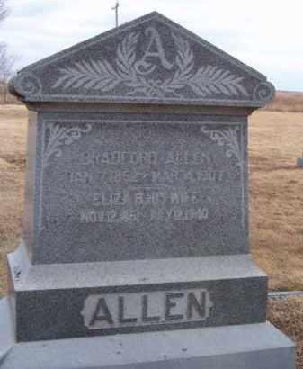 ALLEN, BRADFORD - Dodge County, Nebraska | BRADFORD ALLEN - Nebraska Gravestone Photos
