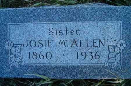 ALLEN, JOSIE M - Dodge County, Nebraska | JOSIE M ALLEN - Nebraska Gravestone Photos