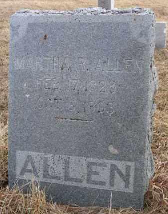 ALLEN, MARTHA R - Dodge County, Nebraska | MARTHA R ALLEN - Nebraska Gravestone Photos