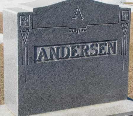ANDERSEN, PLOT - Dodge County, Nebraska | PLOT ANDERSEN - Nebraska Gravestone Photos