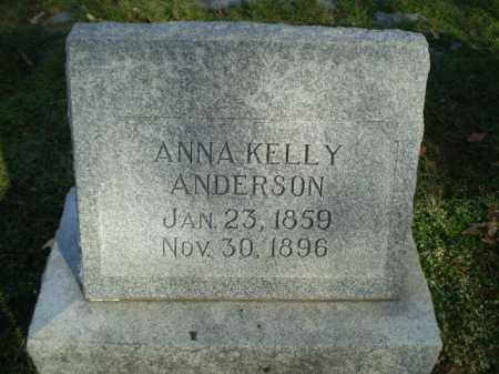 ANDERSON, ANNA KELLY - Dodge County, Nebraska | ANNA KELLY ANDERSON - Nebraska Gravestone Photos