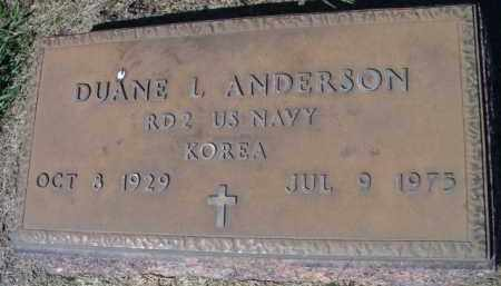 ANDERSON, DUANE L (MILITARY MARKER) - Dodge County, Nebraska   DUANE L (MILITARY MARKER) ANDERSON - Nebraska Gravestone Photos