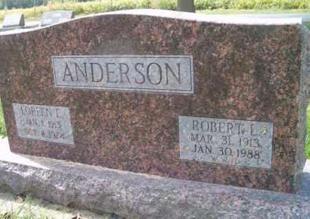 ANDERSON, LOREEN E. - Dodge County, Nebraska | LOREEN E. ANDERSON - Nebraska Gravestone Photos