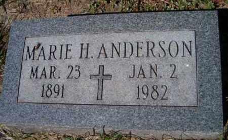 ANDERSON, MARIE H - Dodge County, Nebraska | MARIE H ANDERSON - Nebraska Gravestone Photos
