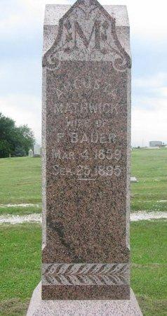 BAUER, AUGUSTA - Dodge County, Nebraska | AUGUSTA BAUER - Nebraska Gravestone Photos