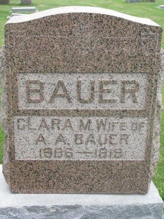 BAUER, CLARA M. - Dodge County, Nebraska | CLARA M. BAUER - Nebraska Gravestone Photos
