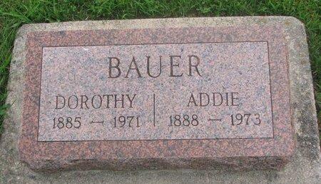 BAUER, ADDIE - Dodge County, Nebraska | ADDIE BAUER - Nebraska Gravestone Photos