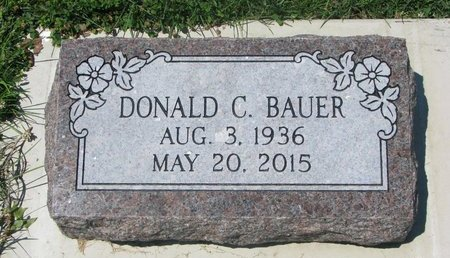BAUER, DONALD C. - Dodge County, Nebraska | DONALD C. BAUER - Nebraska Gravestone Photos