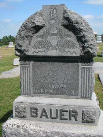 BAUER, EMMA H. (#2) - Dodge County, Nebraska | EMMA H. (#2) BAUER - Nebraska Gravestone Photos