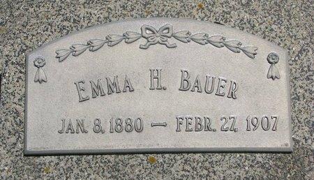 BAUER, EMMA H. - Dodge County, Nebraska | EMMA H. BAUER - Nebraska Gravestone Photos