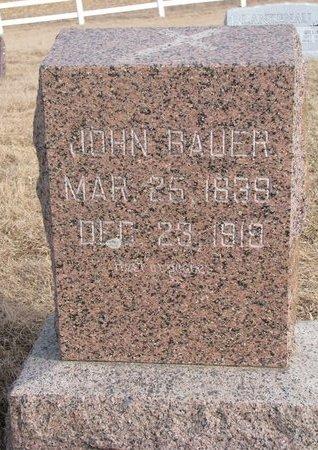 BAUER, JOHN - Dodge County, Nebraska   JOHN BAUER - Nebraska Gravestone Photos