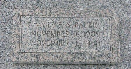 BAUER, MYRTLE SOPHIE - Dodge County, Nebraska | MYRTLE SOPHIE BAUER - Nebraska Gravestone Photos