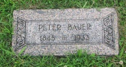 BAUER, PETER - Dodge County, Nebraska   PETER BAUER - Nebraska Gravestone Photos