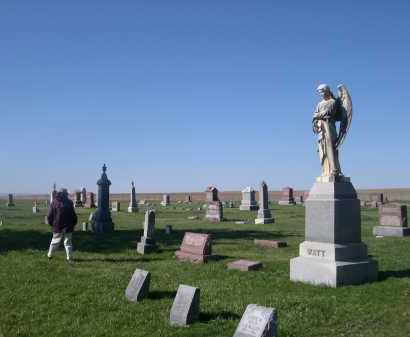 *BLUFFS CEMETERY, VIEW OF - Dodge County, Nebraska | VIEW OF *BLUFFS CEMETERY - Nebraska Gravestone Photos