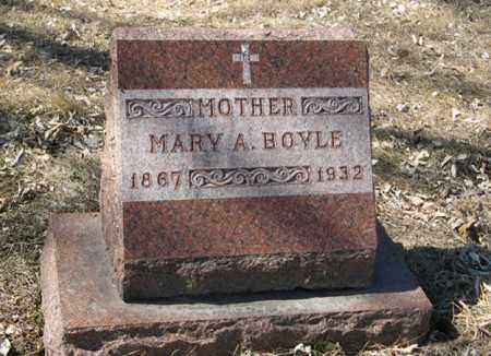 BOYLE, MARY A. - Dodge County, Nebraska | MARY A. BOYLE - Nebraska Gravestone Photos