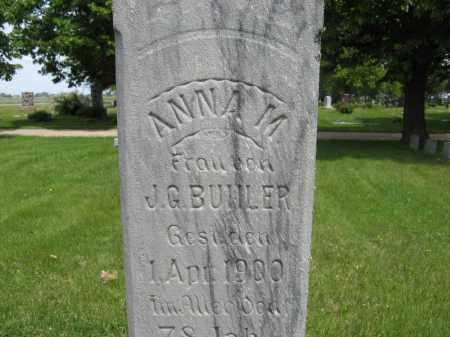 BUHLER, ANNA M. (CLOSE UP ONE) - Dodge County, Nebraska   ANNA M. (CLOSE UP ONE) BUHLER - Nebraska Gravestone Photos