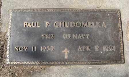 CHUDOMELKA, PAUL F. (MILITARY MARKER) - Dodge County, Nebraska   PAUL F. (MILITARY MARKER) CHUDOMELKA - Nebraska Gravestone Photos