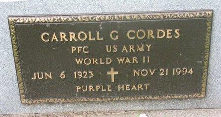 CORDES, CARROLL G. (MILITARY) - Dodge County, Nebraska | CARROLL G. (MILITARY) CORDES - Nebraska Gravestone Photos